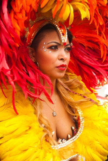 A Samba instructor at the 31st ANNUAL Kingdom Day Parade (honoring the memory and work of Dr. Martin Luther King) Presented By Congress Of Racial Equality Of California (CORE-CA) Adrian Dove, Parade President and CEO Monday, January 18, 2016, Los Angeles, CA Parade Starts Western Ave and MLK Blvd
