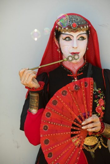 """Serendipity"", a circus performer at 2017 Renaissance Pleasure Faire, Santa Fe Dam Recreation Area, Irwindale, California, USA"