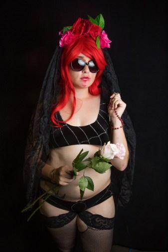Horror Fashion Show at Midsummer Scream Halloween Festival, Long Beach, California, USA