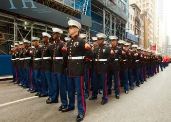 Marines, Saint Patrick's Day Parade 2012, Manhattan, New York City, New York, United States of America