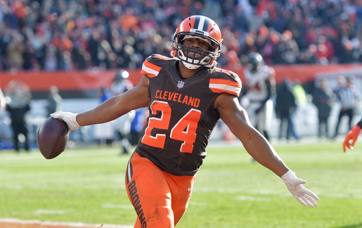 Nick Chubb gets no love in poll of the NFL's top RBs