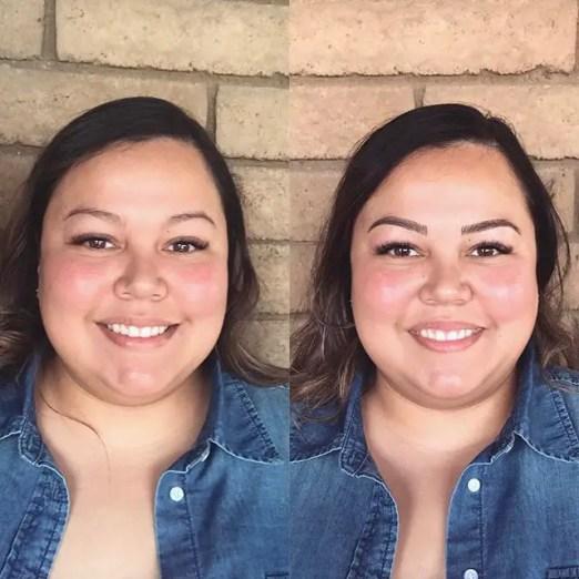 Alyssa full face microblading strokes