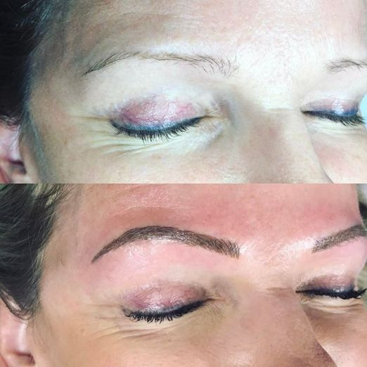 Cassie Right brow final visit microblading