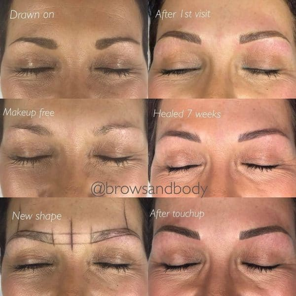 Microblading healing process 7 weeks