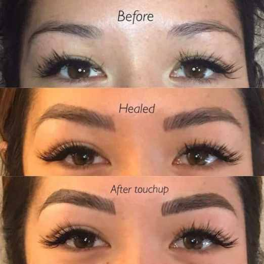 Microblading shading 6 weeks after touchup