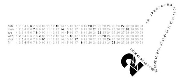 Minimal Calendar Design