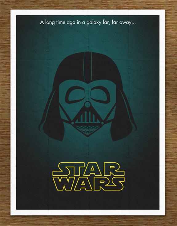 Minimal Star Wars Movie Poster