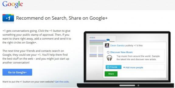 Google Plus Button