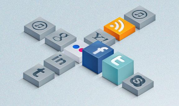 3D Social Icons Set