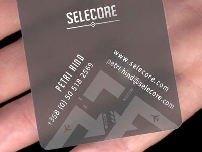 Transparent Business Card Design Ideas