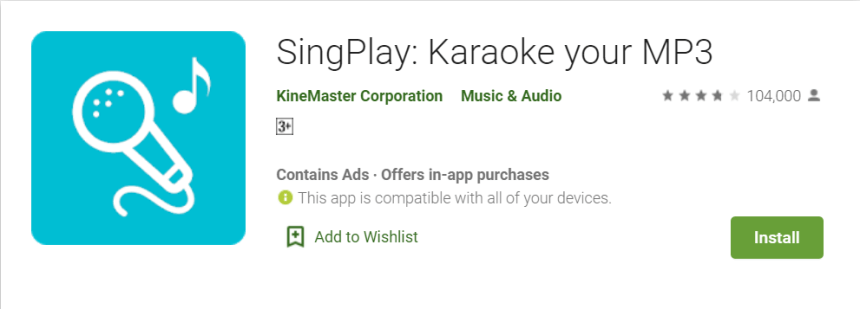 SingPlay App For PC