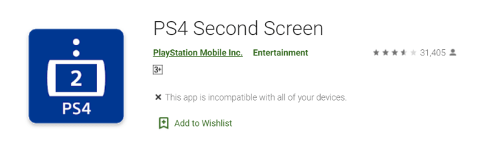 PS4 Second Screen PC