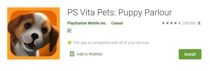 PS Vita Pets Puppy Parlour For PC
