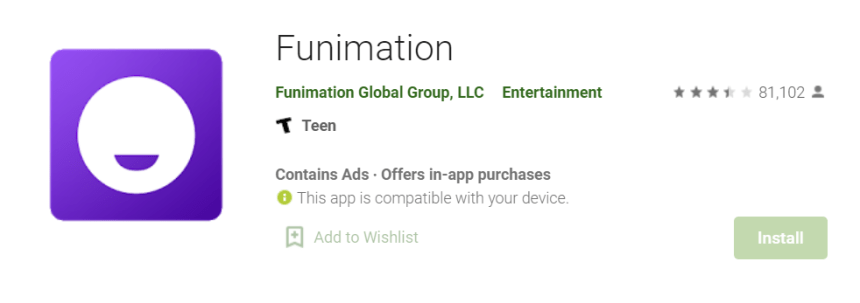 Funimation for Mac
