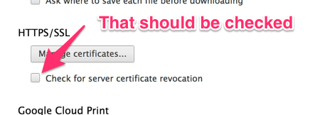 check cert remove chrome
