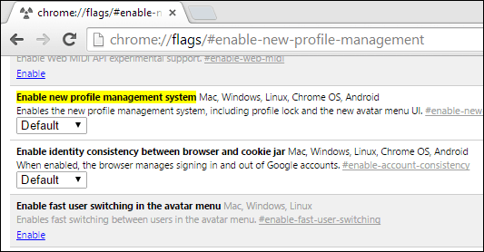Disable New Profile Management System and Avatar Menu in