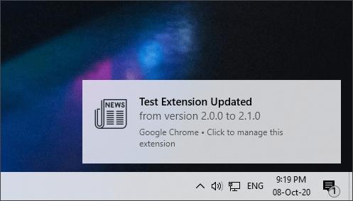chrome extension update alert