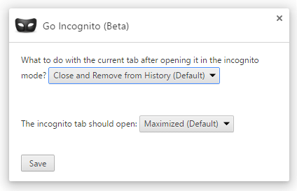 go-incognito-options