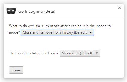 go-incognito-options