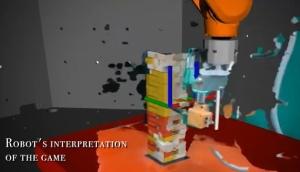 ジェンガをするAIロボット