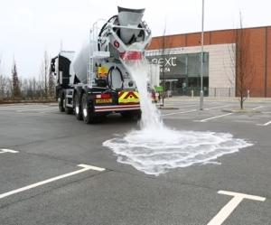 水を大量に吸収できるコンクリート