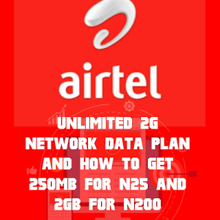 Airtel unlimited 2G data plan