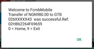 FCMB Mobile Transfer