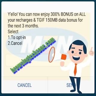 How To Activate MTN 300% Bonus + 150MB On All Recharges