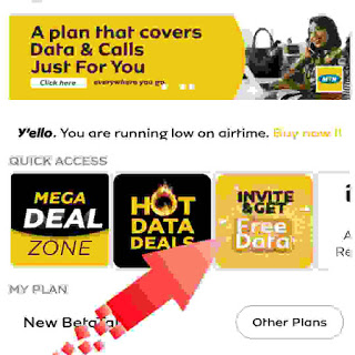 Invite and get free data
