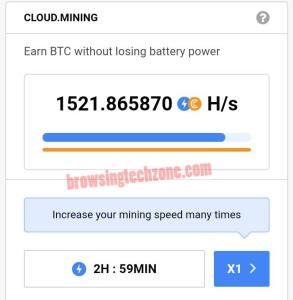 CryptoTab Cloud mining