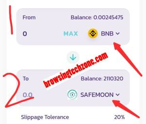 How to Swap BNB To Safemoon