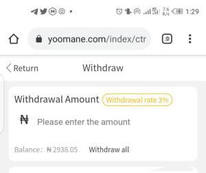 Yoomane Withdrawal