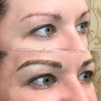 Before and after microblading by Bliss Beauty & Brow Boutique