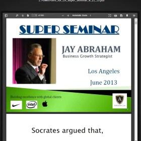 Download Jay Abraham - Super Seminar 2013