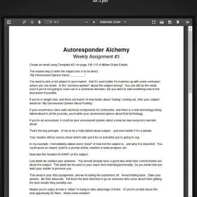 Download Terry Dean - Autoresponder Alchemy (REQ)