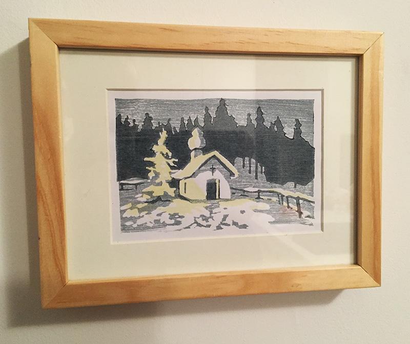 Weihnachts-Holzschnitt - Verlosung unter den Abonnenten