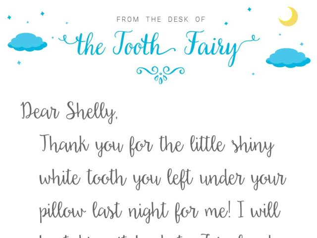 Tooth Fairy Letter Template Baton
