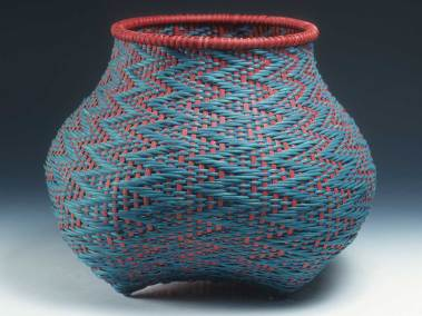 Fibonacci 21 Turquoise & Red by Billie Ruth Sudduth