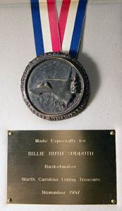 Photo of Billie Ruth Sudduth's Living Treasure Medal
