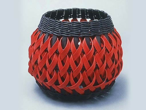 Penland Pottery Basket in Black and Red by Billie Ruth Sudduth