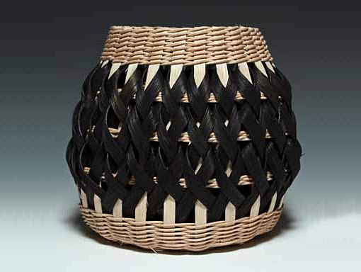 Photo of Penland Pottery Basket in Walnut and Black