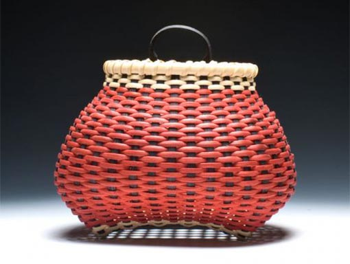 Photo of Small Checkerboard Shaker Cat's Head Wall Basket