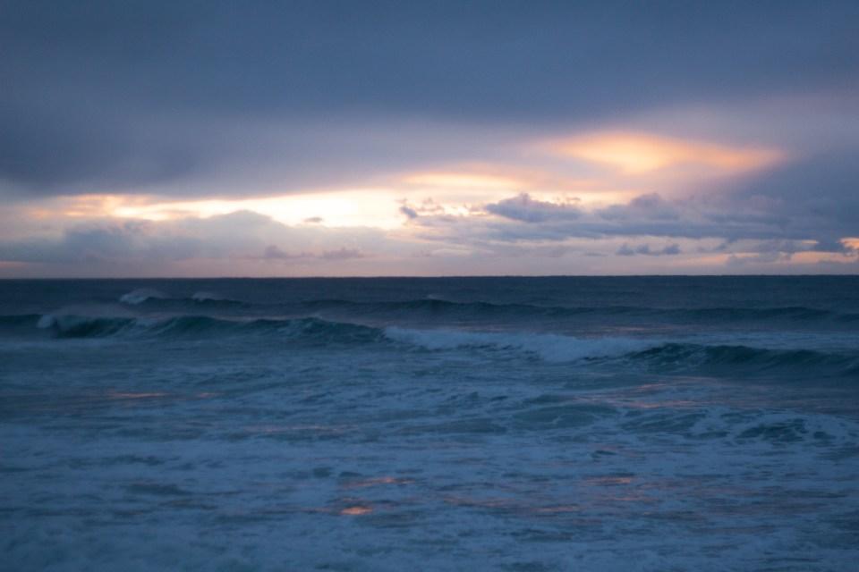 sunrise over the sea at sunrise