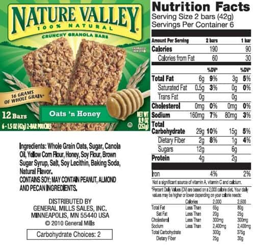 Nature Valley Bars Are They Good For You