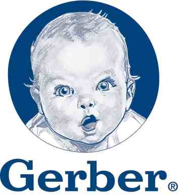 The iconic Gerber logo featuring the Gerber baby