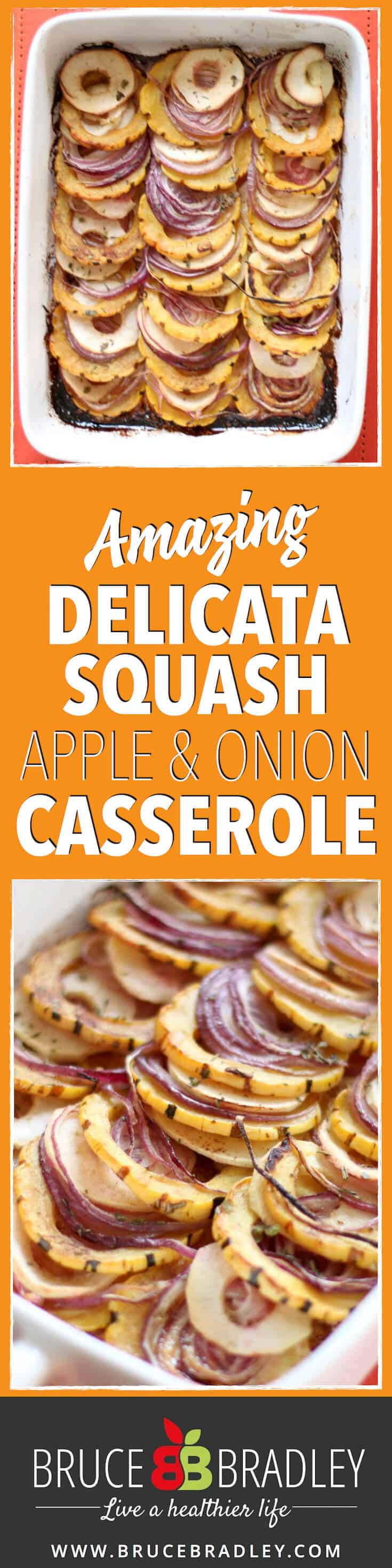 Replace your sugary sweet potato casserole with a new squash side dish that's an easy, delicious addition for your Thanksgiving! This amazing delicata squash tian with apples and onions is sure to become a holiday favorite!