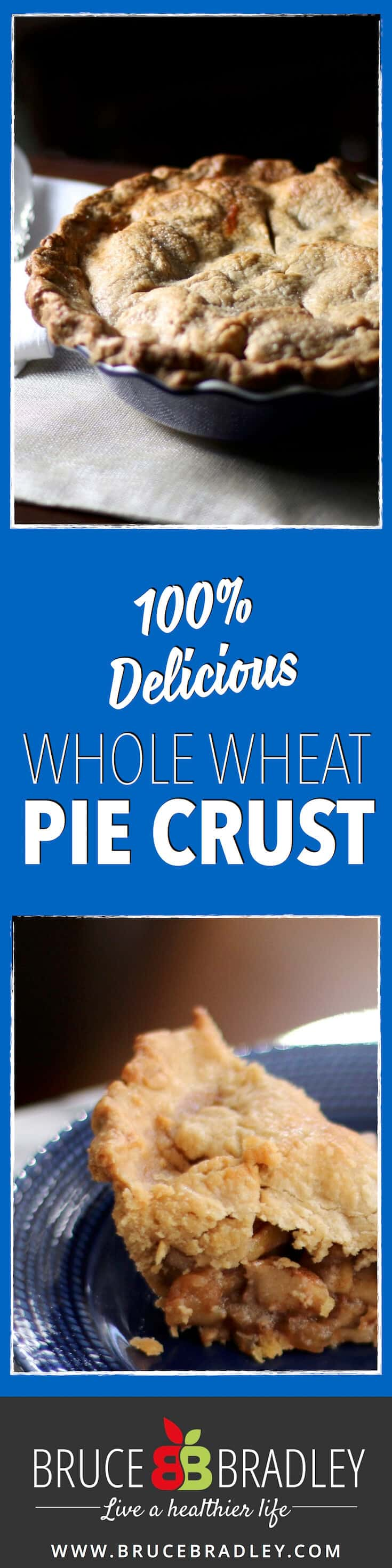 What's in your store-bought pie crust? It's pretty scary. Ditch the trans fats, preservatives, and added colors, and try my 100% delicious whole wheat pie crust instead! It's simply amazing and easy to make ahead of the big holiday rush!
