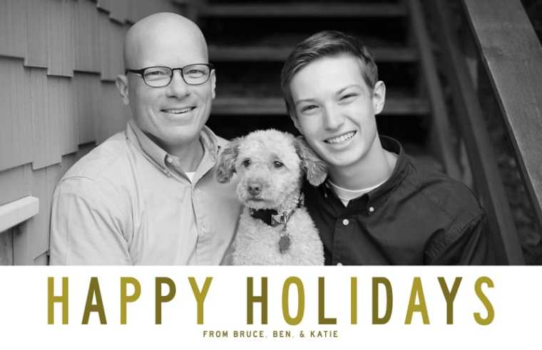 Happy Holidays from Bruce Ben and Katie