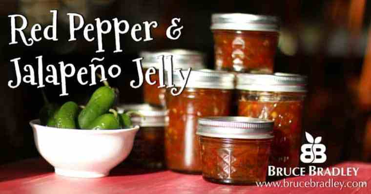 Bruce Bradley's Red Pepper Jelly recipe uses no sugar and makes a wonderful gift!