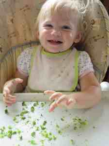 My youngest daughter is a big broccoli fan—even for breakfast!